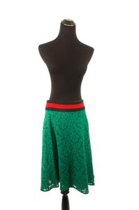 Gucci Lace Skirt Green
