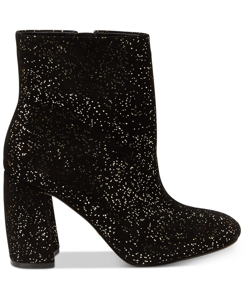 11cc269b97a5 Nanette Lepore Black Sparkle -- Lilly Embellished Heel Boots Booties ...