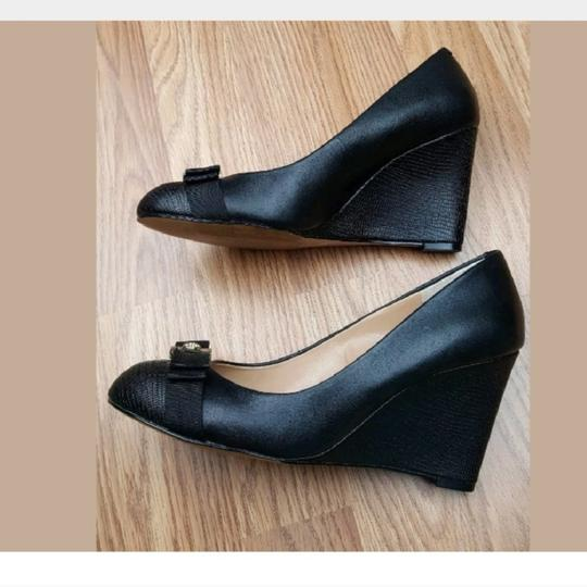 Audrey Brooke Black Wedges