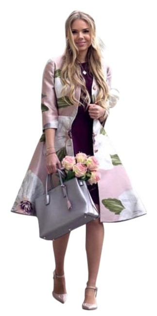 Preload https://img-static.tradesy.com/item/23339352/ted-baker-pink-ottie-chatsworth-bloom-dress-trench-coat-size-8-m-0-5-650-650.jpg