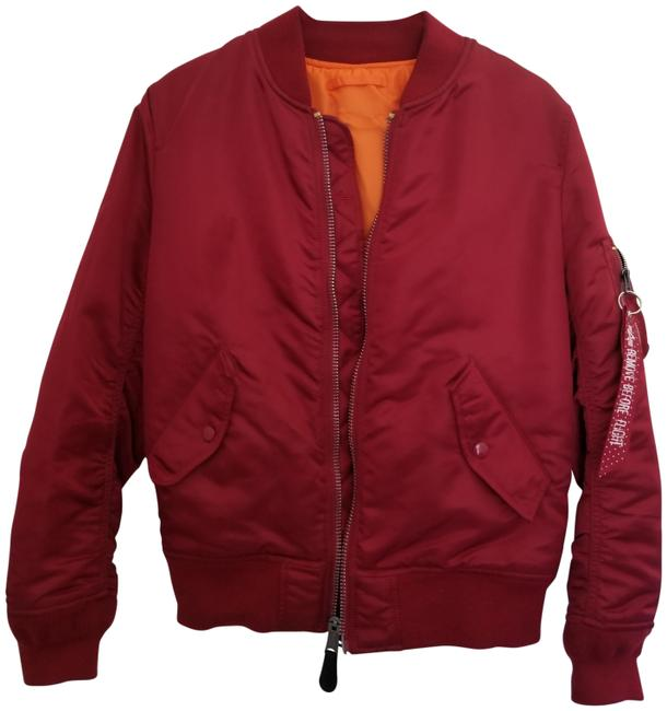 Preload https://item1.tradesy.com/images/alpha-industries-red-ma-1-nylon-bomber-jacket-size-8-m-23339365-0-1.jpg?width=400&height=650