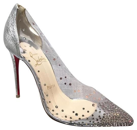 Preload https://img-static.tradesy.com/item/23339379/christian-louboutin-degrastrass-pvc-100-mm-stiletto-heel-95-pumps-size-eu-395-approx-us-95-regular-m-0-2-540-540.jpg