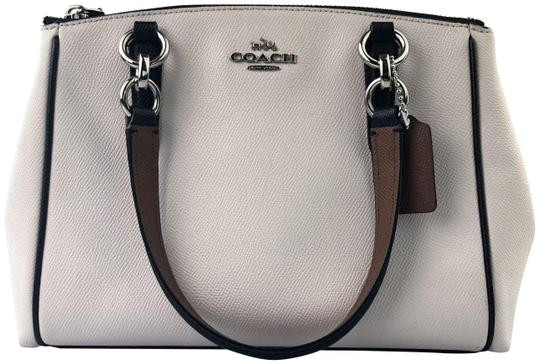 Preload https://item1.tradesy.com/images/coach-christie-carryall-in-crossgrain-ivorybrownblack-leather-satchel-23339395-0-3.jpg?width=440&height=440