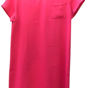Adrienne Vittadini short dress Hot Pink/ Fuschia Shift Scoop Neck on Tradesy