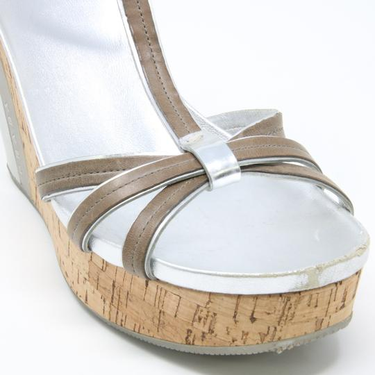 Prada Spring Summer Sport Canvas Party Silver Wedges Image 7