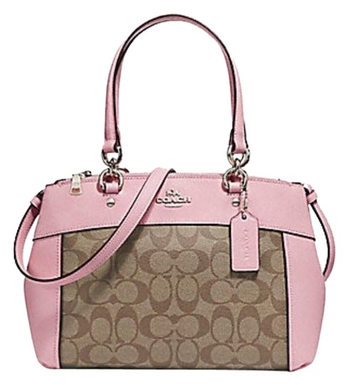Preload https://item4.tradesy.com/images/coach-christie-mini-brooke-carryall-signature-f25928-57523-light-gold-pink-leather-and-canvas-satche-23339418-0-1.jpg?width=440&height=440