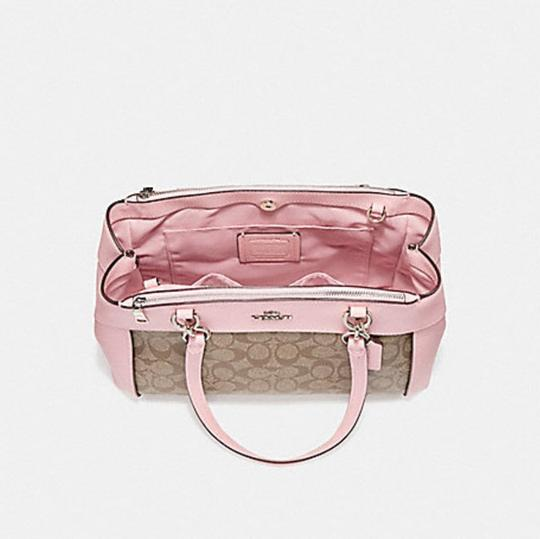 Coach Carryall 34797 36704 Christie Satchel in LIGHT GOLD/ pink