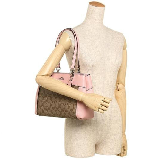 Coach Carryall 34797 36704 Christie Satchel in pink