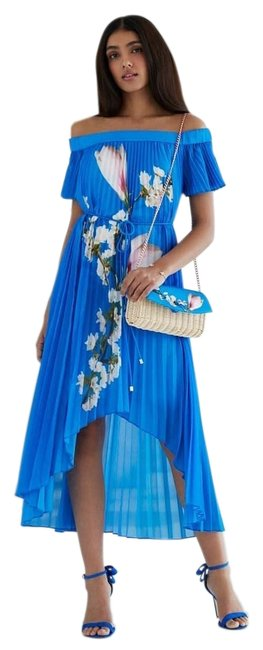 Preload https://item1.tradesy.com/images/ted-baker-bright-blue-melma-harmony-pleated-mid-length-casual-maxi-dress-size-8-m-23339455-0-1.jpg?width=400&height=650