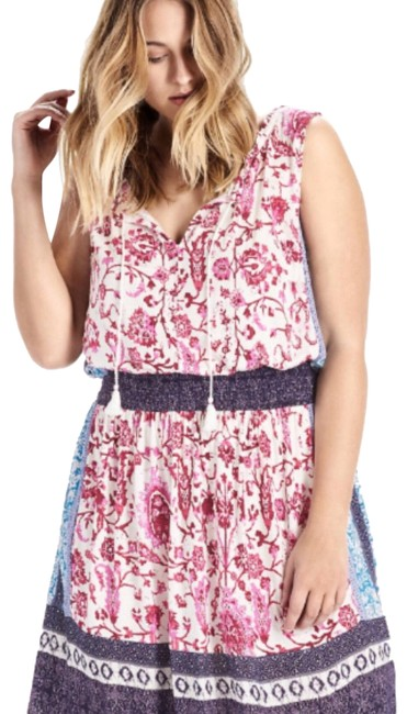 Preload https://img-static.tradesy.com/item/23339456/lucky-brand-pink-multi-7q90466-kerry-mix-print-sleeveless-knit-mid-length-short-casual-dress-size-22-0-2-650-650.jpg
