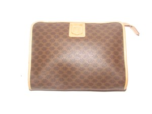 08ce5a7a923e Céline Early Style Mint Vintage Rich Shades Of Clutch Cosmetic dark brown  in macadam print