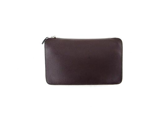 Preload https://item1.tradesy.com/images/hermes-brown-azap-pebbled-leather-clutch-travel-france-wallet-23339470-0-0.jpg?width=440&height=440