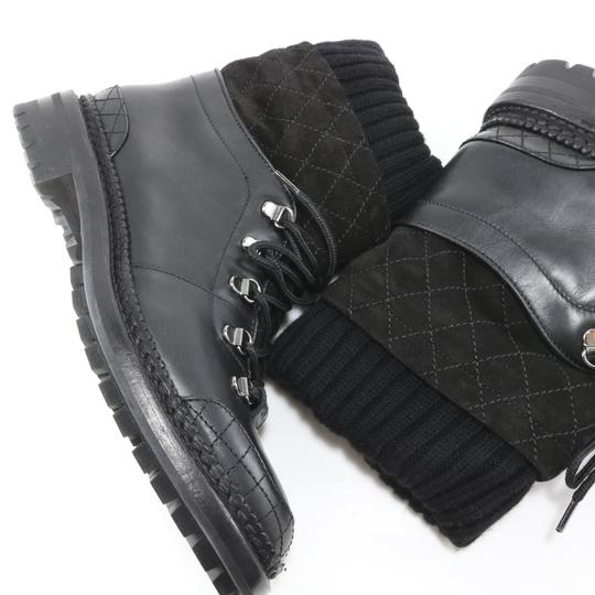 Chanel Runway Quilted black Boots