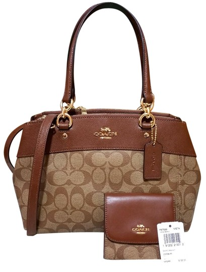 Preload https://item4.tradesy.com/images/coach-christie-mini-brooke-carryall-signature-wallet-set-f26139-87589-brown-coated-canvas-satchel-23339488-0-1.jpg?width=440&height=440