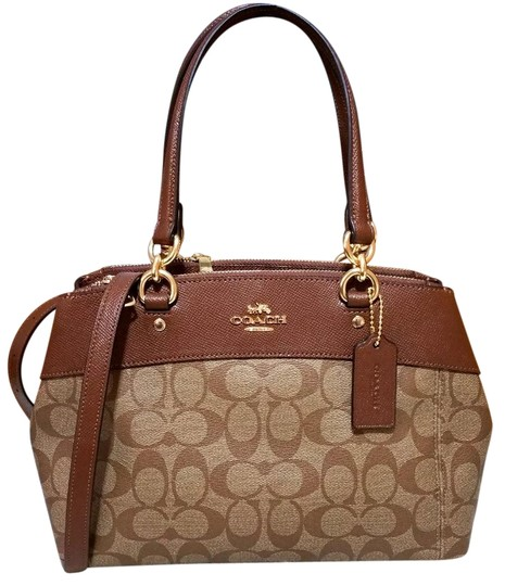 Preload https://item1.tradesy.com/images/coach-christie-mini-brooke-carryall-signature-f25928-26139-brown-coated-canvas-satchel-23339510-0-2.jpg?width=440&height=440
