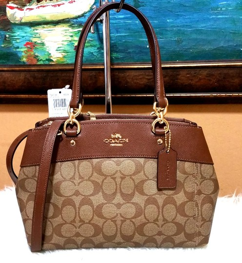 Coach Carryall 34797 36704 Christie Satchel in LIGHT GOLD/ saddle