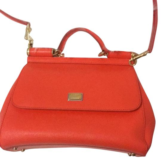 Preload https://item3.tradesy.com/images/dolce-and-gabbana-d-and-g-orange-leather-satchel-23339512-0-1.jpg?width=440&height=440