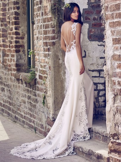 Preload https://img-static.tradesy.com/item/23339527/maggie-sottero-soft-pearlpewter-accent-aldora-crepe-and-lace-veronica-modern-wedding-dress-size-8-m-0-0-540-540.jpg