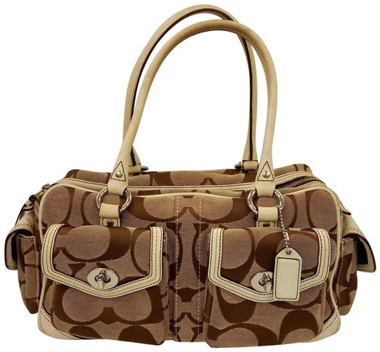 Preload https://item2.tradesy.com/images/coach-signatures-gallary-multi-pockets-tote-satchel-6232-beige-canvas-and-leather-shoulder-bag-23339536-0-1.jpg?width=440&height=440
