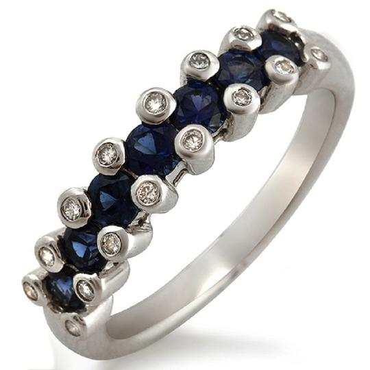 Preload https://img-static.tradesy.com/item/23339575/18k-white-gold-016-ct-diamonds-and-086-ct-blue-sapphire-wedding-band-ring-0-0-540-540.jpg