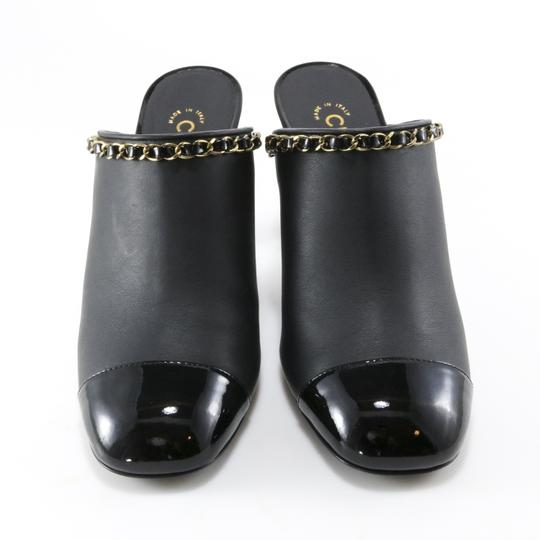 Chanel Runway Chain Black Mules