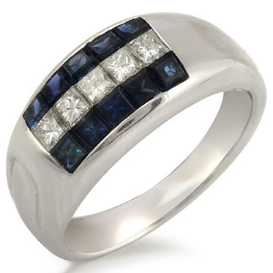 Preload https://img-static.tradesy.com/item/23339596/18k-white-gold-052-ct-diamonds-and-104-ct-blue-sapphire-wedding-band-ring-0-0-540-540.jpg