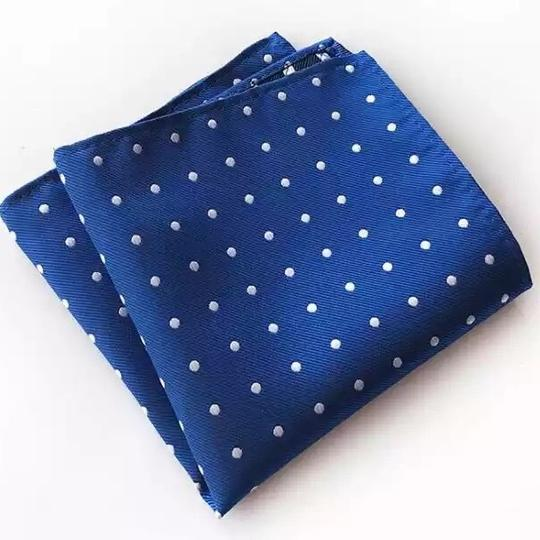 Preload https://item3.tradesy.com/images/blue-and-white-dots-men-s-pocket-square-dot-pattern-23339602-0-0.jpg?width=440&height=440