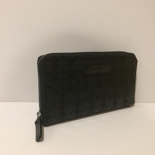 Jimmy Choo New Cutout Overlay Zip Around Wallet