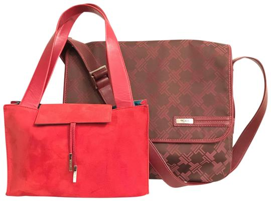 Preload https://img-static.tradesy.com/item/23339642/tumi-signature-collection-and-mini-suedeleather-tote-red-purple-canvas-laptop-bag-0-2-540-540.jpg
