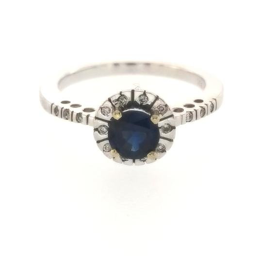 Preload https://item4.tradesy.com/images/18k-white-gold-012-ct-diamonds-and-058-ct-blue-sapphire-engagement-ring-23339643-0-0.jpg?width=440&height=440