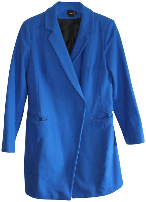 Preload https://img-static.tradesy.com/item/23339649/asos-royal-blue-electric-pea-coat-size-6-s-0-2-650-650.jpg
