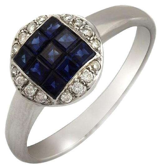 Preload https://img-static.tradesy.com/item/23339678/18k-white-gold-009-ct-diamonds-and-137-ct-blue-sapphire-engagement-ring-0-1-540-540.jpg