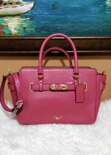 Coach 38453 Swagger 55665 Satchel in rouge pink