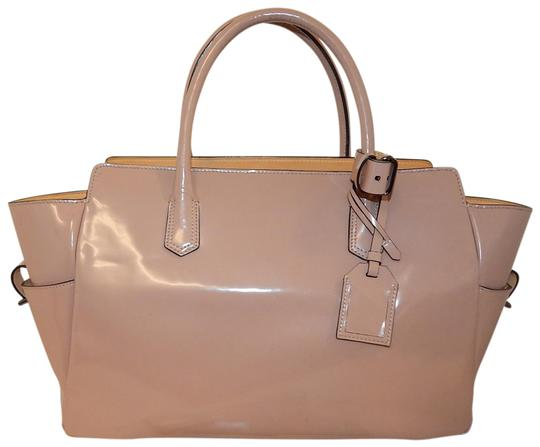Reed Krakoff Sleek Leather Satchel Tote in Taupe