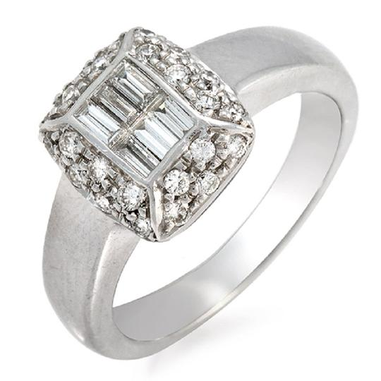 Preload https://item1.tradesy.com/images/100-ct-baguette-and-round-diamonds-18k-white-gold-engagement-ring-23339695-0-0.jpg?width=440&height=440