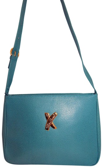 Preload https://item2.tradesy.com/images/paloma-picasso-green-shoulder-turquoise-leather-cross-body-bag-23339696-0-1.jpg?width=440&height=440