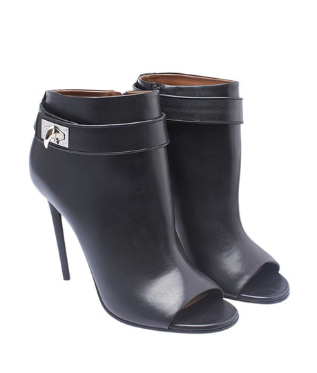 Givenchy Ankle Leather Black Boots