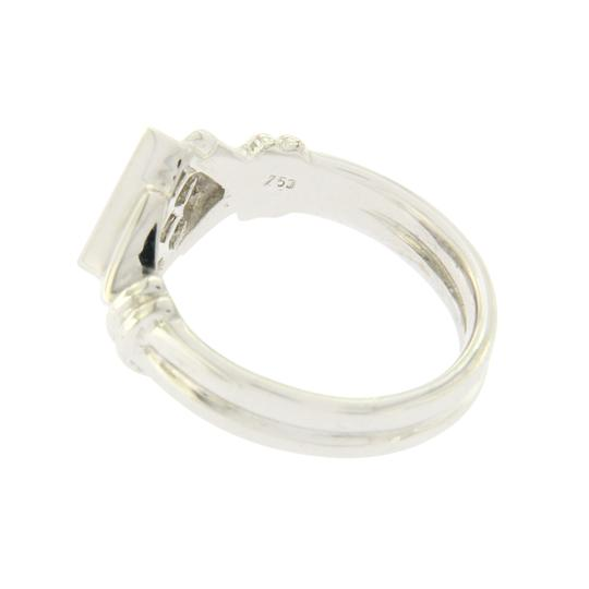 Unbranded 0.84 CT Invisible Set Princess Diamonds 18K White Gold Engagement Ring