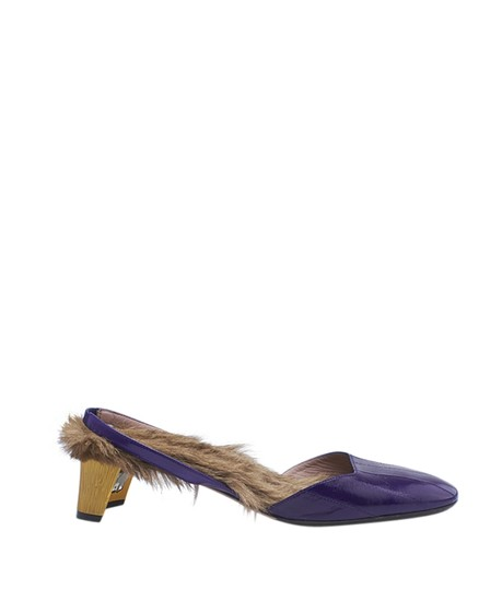 Gucci Patent Leather Purple Mules