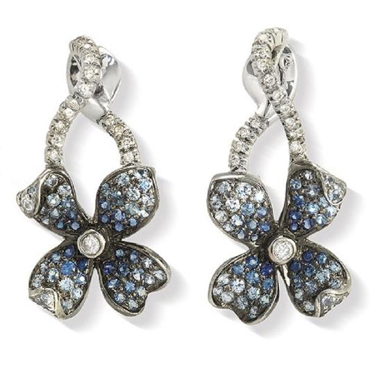 Preload https://item5.tradesy.com/images/18k-gold-pave-019-ct-diamonds-and-101-ct-blue-sapphire-flower-earrings-23339734-0-0.jpg?width=440&height=440