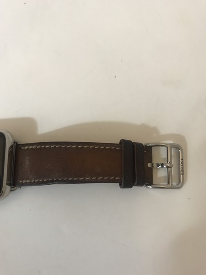 Hermès APPLE X HERMES WATCH 109418 38MM STAINLESS STEEL DOUBLE TOUR FAUVE BAR