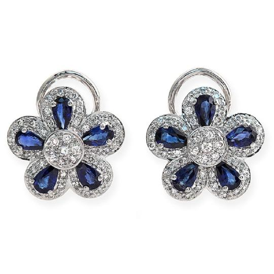 Preload https://img-static.tradesy.com/item/23339753/18k-gold-075-ct-diamonds-and-266-ct-blue-sapphire-flower-earrings-0-0-540-540.jpg