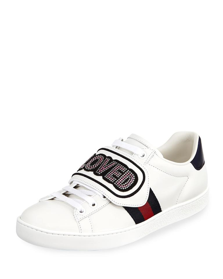 5578c2284f0 Gucci White New Ace Sneakers Loved Leather Sneakers Sneakers Size US ...