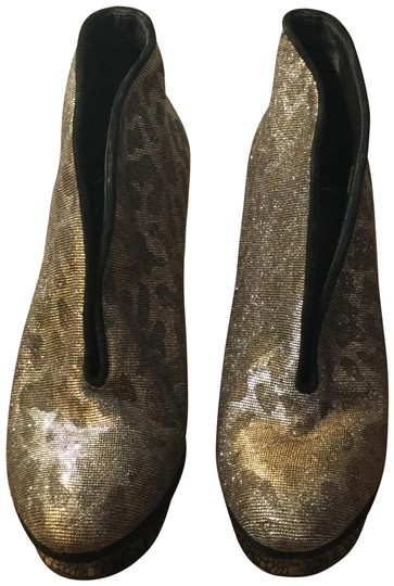 Brian Atwood Stiletto Silver gold black Boots