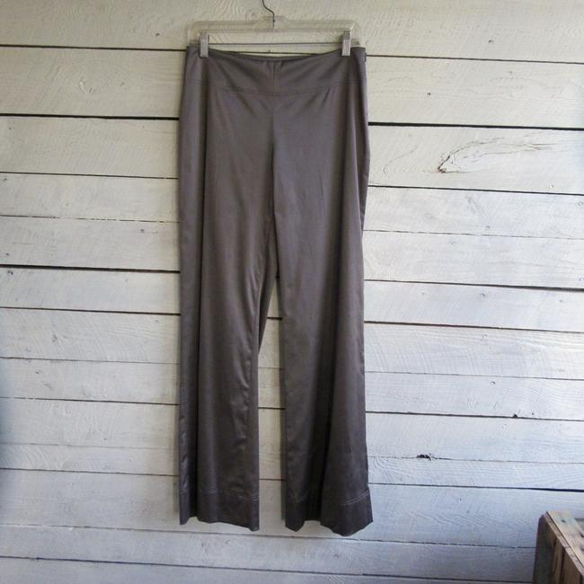 Donna Degnan Stretch Silver Wide Leg Pants taupe Image 1