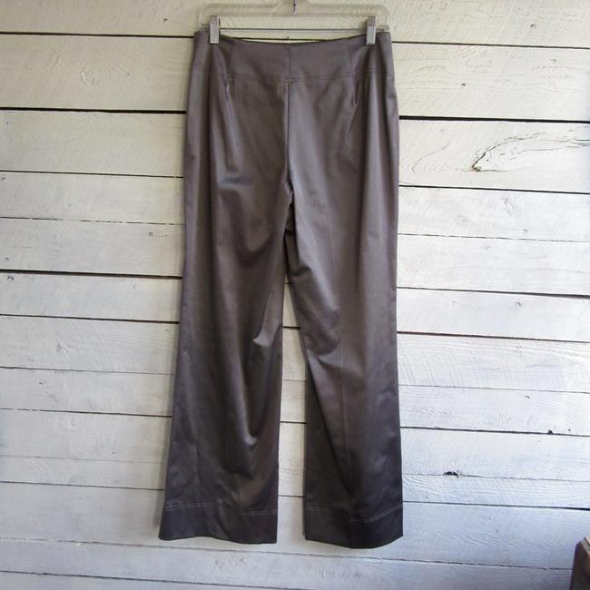 Donna Degnan Stretch Silver Wide Leg Pants taupe Image 2