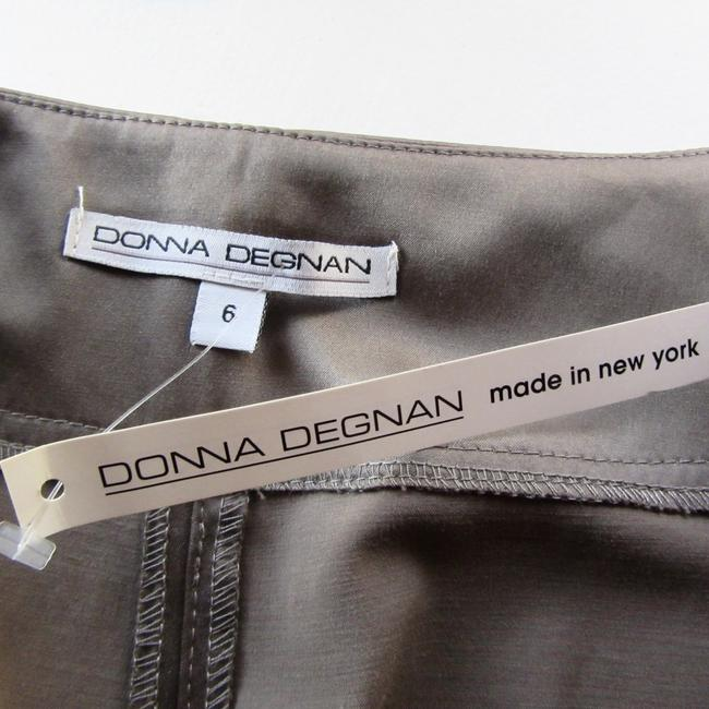 Donna Degnan Stretch Silver Wide Leg Pants taupe