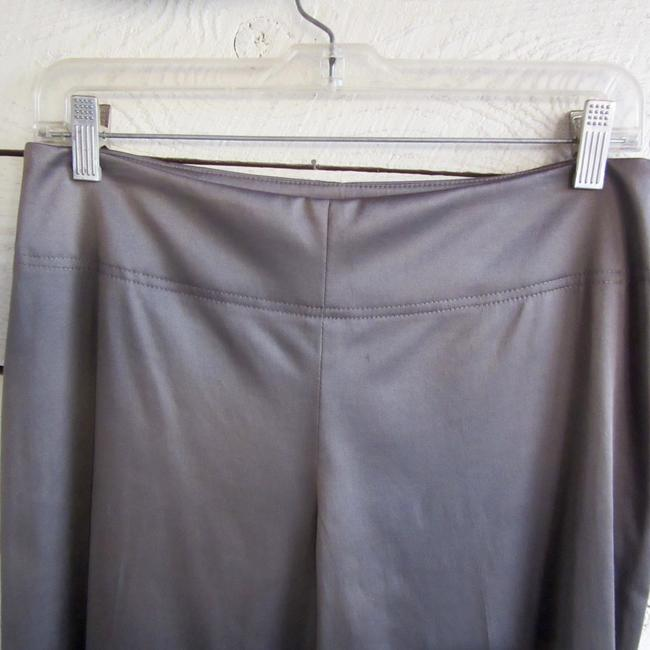 Donna Degnan Stretch Silver Wide Leg Pants taupe Image 5