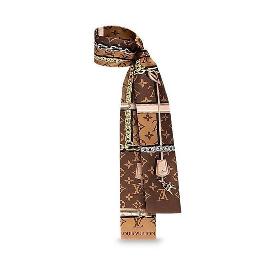 Preload https://img-static.tradesy.com/item/23339781/louis-vuitton-brown-monogram-bandeau-silk-narrow-scarfwrap-scarfwrap-0-0-540-540.jpg