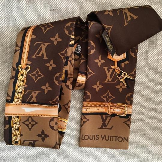 Louis Vuitton Monogram Bandeau Silk Narrow Scarf/Wrap